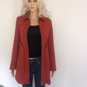 Zara Jackets & Coats - Zara zip up long winter jacket